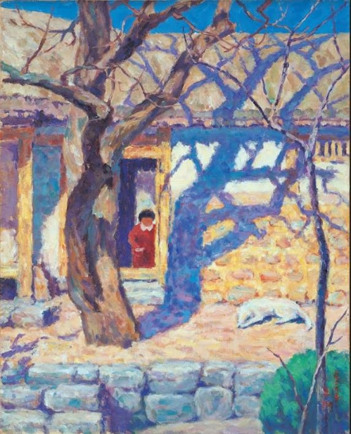오지호, 남향집, 캔버스에 유채, 80×65cm, 1939