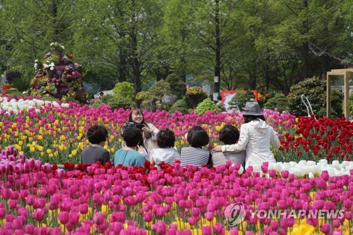 지난달 27일 개막한 고양국제꽃박람회[연합뉴스 자료사진]