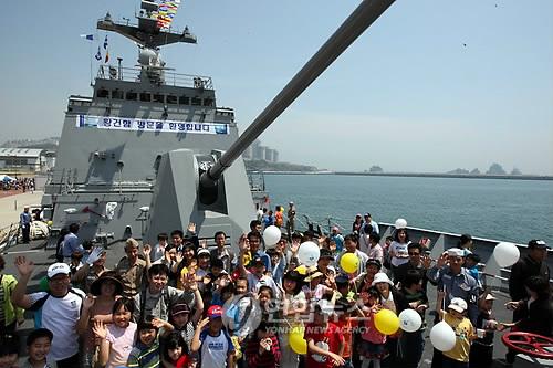 부산에서 열린 해군 어린이날 행사[연합뉴스 자료사진]