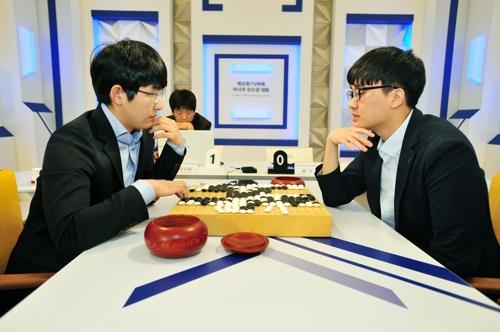 김지석(왼쪽) vs 나현(오른쪽)의 결승전 [한국기원 제공 = 연합뉴스]