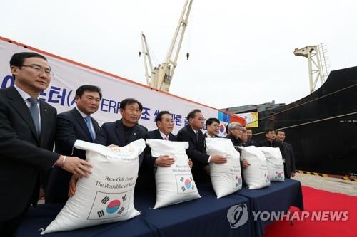 쌀 해외 지원 [연합뉴스 자료 사진]