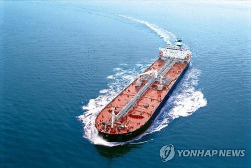 STX조선해양의 주력선종인 탱커. [연합뉴스 자료사진]