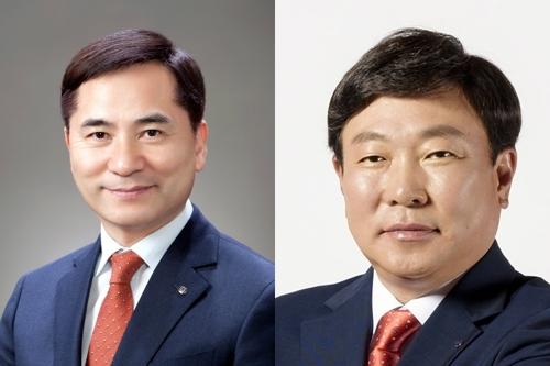 DGB대구은행 차기 은행장 후보인 김경룡(왼쪽)·박명흠 씨