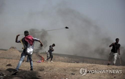 가자지구 시위[AP=연합뉴스]