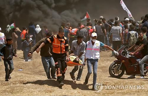 가자지구에서의 팔레스타인 시위[AFP=연합뉴스]