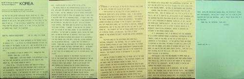 5·18 알리고자 띄운 영문편지 [최용주 5·18기념재단 비상임연구원 제공=연합뉴스]
