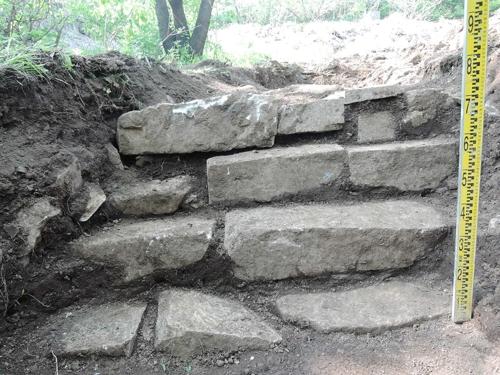 원삼화사지의 계단 시설 모습[동해시 제공]