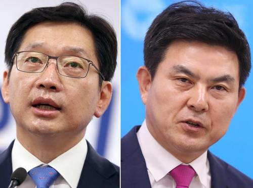 김경수(왼쪽)·김태호 후보