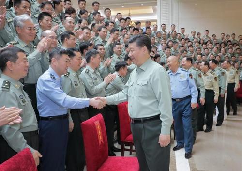 시진핑, 중국군 군사과학원 시찰 [신화망 캡처]