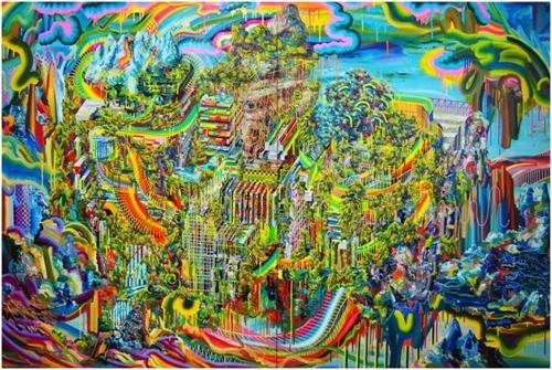 최은정, Monumental Landscapes No1, 캔버스에 유채, 260X130cm, 2017