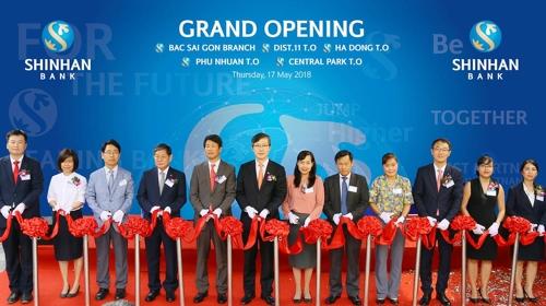 신한베트남은행, 호치민·하노이서 지점 4곳 개점