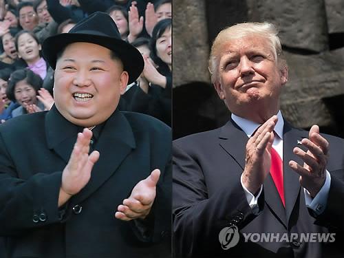 북한 김정은 국무위원장(좌)과 도널드 트럼프 미국 대통령 [AFP=연합뉴스]