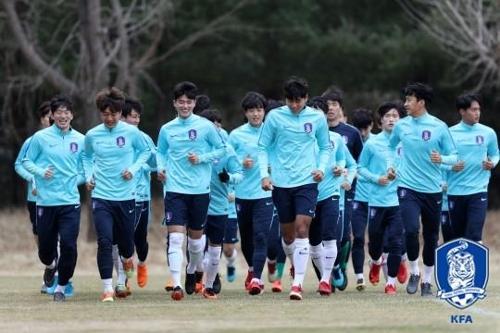1차 소집 당시 U-23 대표팀
