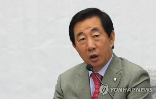 """김성태 """"정부, 특검 막으려 꼼수""""…운영위 소집·국조 추진(종합)"""