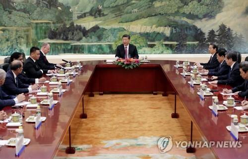 """시진핑 """"상하이협력기구 회원국 안보분야 협력 강화"""""""