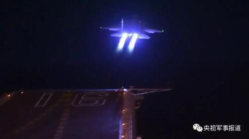 中 항모함재기 야간 이착륙 성공…대만 주변서 위협비행