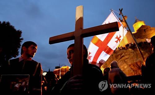 서울시청사, 조지아·아제르바이잔 국기 색으로 물든다