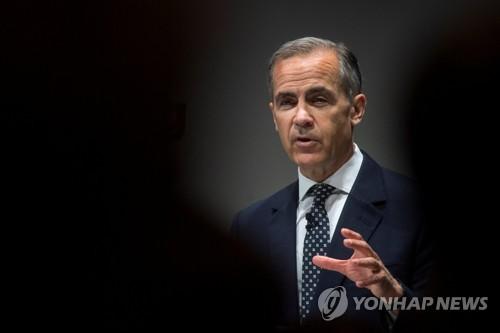 """영란은행 총재 """"브렉시트로 혼란시 금리인하·양적완화 재개"""""""