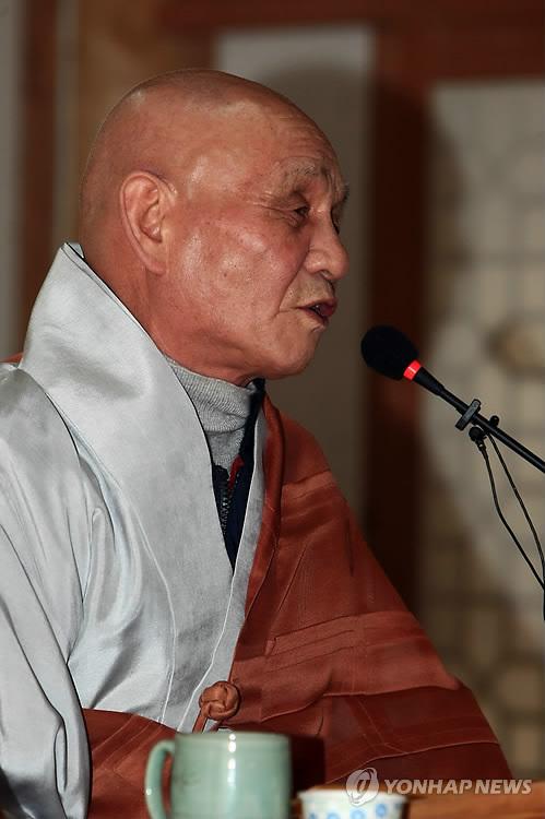 '한국불교 대표 시조시인' 무산 스님 입적(종합)