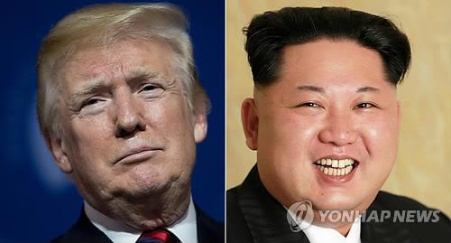 도널드 트럼프 미 대통령(좌)과 김정은 북한 국무위원장(우)