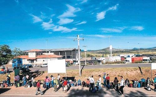브라질-베네수엘라 국경 지역 [브라질 일간지 에스타두 지 상파울루]