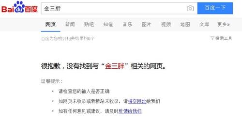 중국 바이두에서 검색되지 않는 '진싼팡'