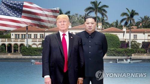 트럼프 대통령과 김정은 위원장(CG)