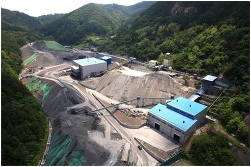 강원도 정선 한덕철광 광업소 전경