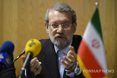 """이란 의회의장 """"이란이 궁지에 몰리면 중동안보 위협받을 것"""""""