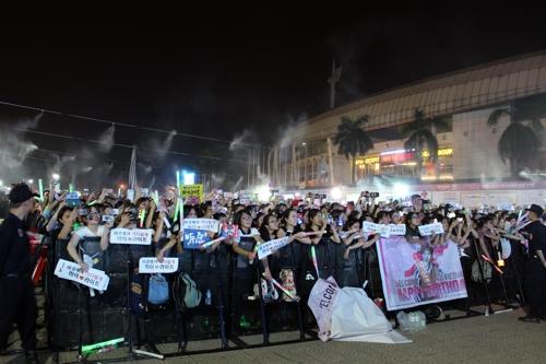 K팝 스타에 열광하는 베트남 팬들