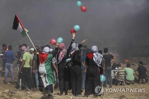 이스라엘, '방화풍선' 날리려던 팔레스타인인들에 경고사격