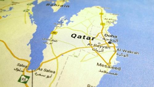 카타르 지도[구글맵 촬영]