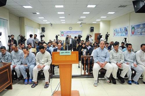 이란 대법원에서 사형이 선고된 IS 조직원들[이란 사법부]