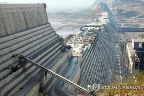 에티오피아가 나일강에 건설 중인 댐[DPA=연합뉴스 자료사진]