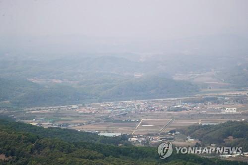 파주 접경지역의 한 마을 [연합뉴스 자료사진]