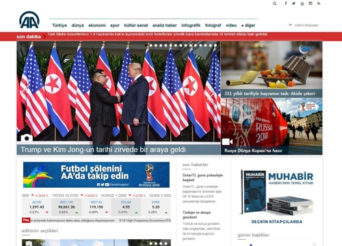 터키 주요 언론, 북미정상회담 주요 뉴스로 종일 보도