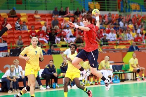 리우올림픽 당시 한국-스웨덴 경기 모습. [대한핸드볼협회 제공=연합뉴스]
