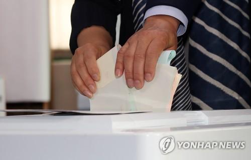 투표하는 손