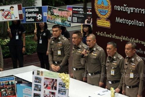 월드컵 기간 불법도박 근절 계획 밝히는 태국 경찰[사진출처 방콕포스트 홈페이지]