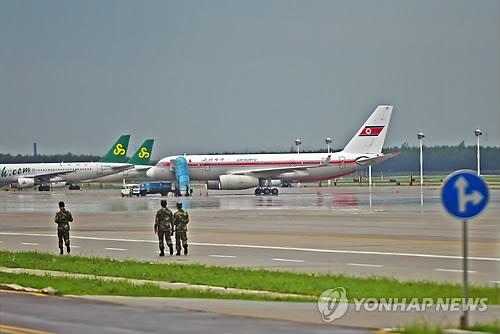 중국 선양에 착륙했던 북한 고려항공 Tu-204 기종[연합뉴스 자료사진]