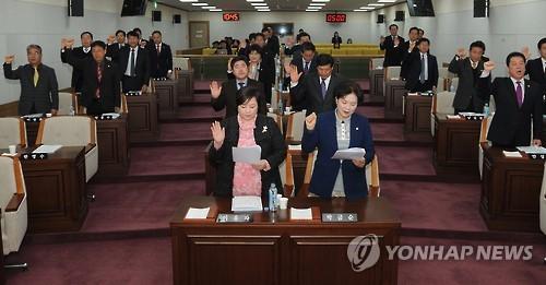 청주시의회 [연합뉴스 자료사진]