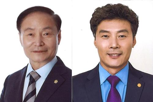 김경구·경식 당선자 (왼쪽부터)
