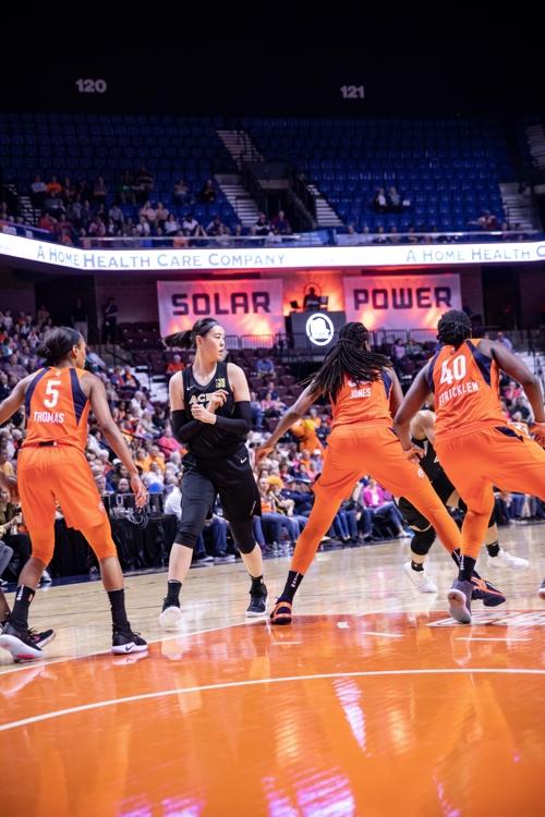 WNBA 박지수, 댈러스 상대로 24분간 6득점·2블록슛