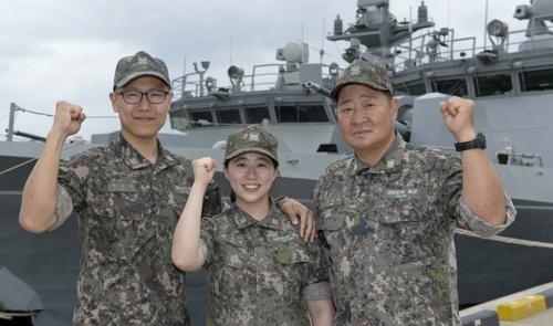 """""""동해는 우리가 지킨다""""…아버지·아들 부부 해군 1함대 근무"""