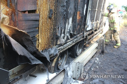 광주·전남 고속도로·터널서 사고 잇따라(종합)
