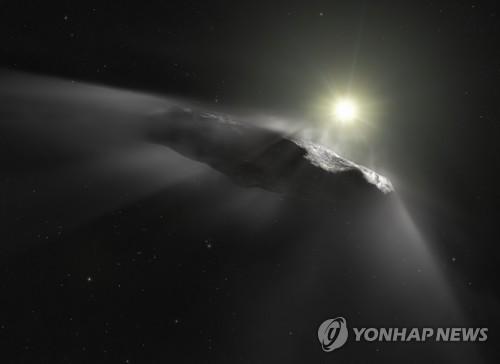 태양계에서 처음 관측된 성간 천체 '오무아무아' 상상도
