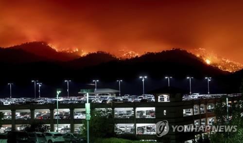 유명 와인산지 美 나파밸리에 또 대형산불 위협