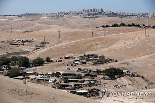 이스라엘 정부가 철거할 예정인 베두인 마을[AFP=연합뉴스]