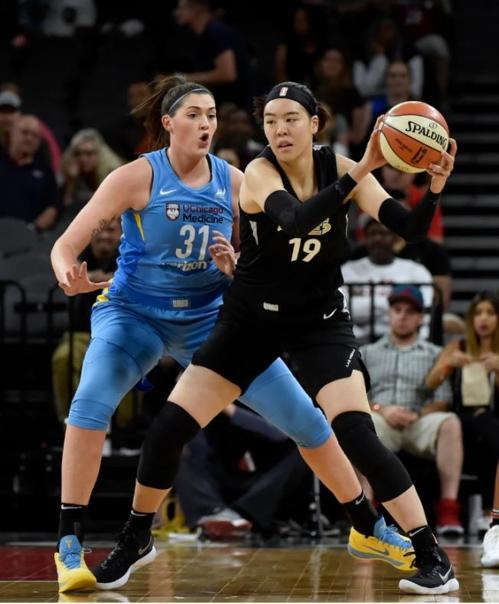 박지수, WNBA 데뷔 후 최다득점…시카고전에서 7득점