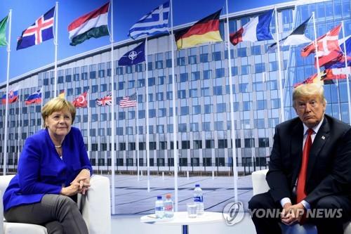 메르켈 독일 총리(좌)와 트럼프 미국 대통령(우) [AFP=연합뉴스]